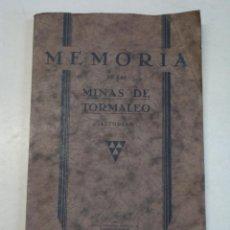 Libros antiguos: TOMÁS FERNÁNDEZ GÓMEZ: INFORME TÉCNICO DE LAS MINAS DE CARBÓN DE TORMALEO (1933). Lote 130879232