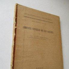 Libros antiguos: AMMONITES NOUVELLES DES ILES BALÉARES-PAUL FALLOT LT HENRI TERMIER-MADRID.- 1923. Lote 130995024