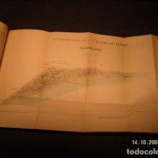 Libros antiguos: INSTITUTO GEOLÓGICO Y MINERO DE ESPAÑA. MAPA GEOLOGICO DE BARCELONA, MEMORIA EXPLICATIVA DE LA HOJA . Lote 131102084
