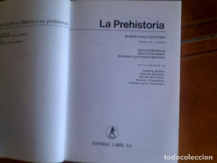 Libros antiguos: libro la prehistoria por andre leroi-gourhan editorial labor 1993 ilustrado 332 paginas - Foto 3 - 131354162