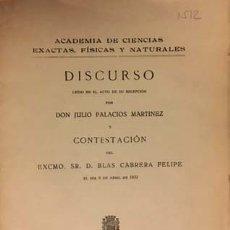 Libros antiguos: TEORÍA DE LOS CUANTOS. PRINCIPIO DE INDETERMINACIÓN. (1932. JULIO PALACIOS / BLAS CABRERA (AUTÓGRAF. Lote 131628734