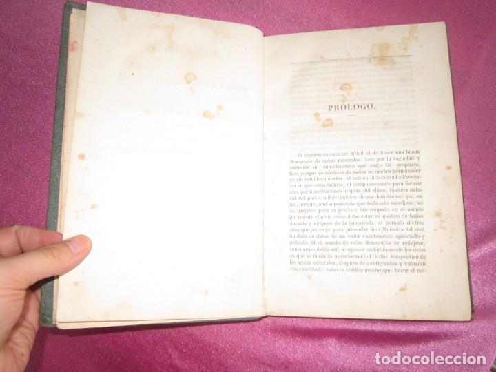 Libros antiguos: MONOGRAFIA DE LAS AGUAS Y BAÑOS MINERO MEDICINALES FUENTE SANTA DE BUYERES DE NAVA 1861 ASTURIAS - Foto 8 - 131992694