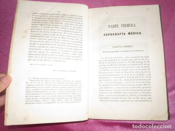 Libros antiguos: MONOGRAFIA DE LAS AGUAS Y BAÑOS MINERO MEDICINALES FUENTE SANTA DE BUYERES DE NAVA 1861 ASTURIAS - Foto 12 - 131992694