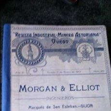 Libros antiguos: REVISTA INDUSTRIAL MINERA ASTURIANA OVIEDO.AÑO 1917, COMPLETO. Lote 132314474
