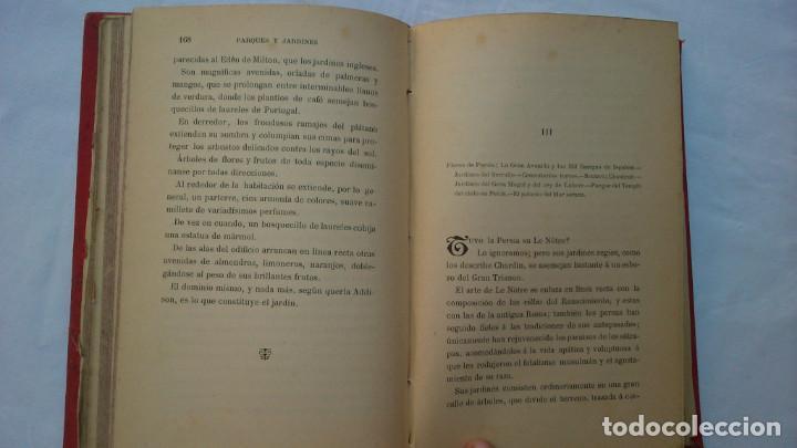 Libros antiguos: Parques y jardines. Biblioteca de maravillas. 1886 - Foto 9 - 132828186