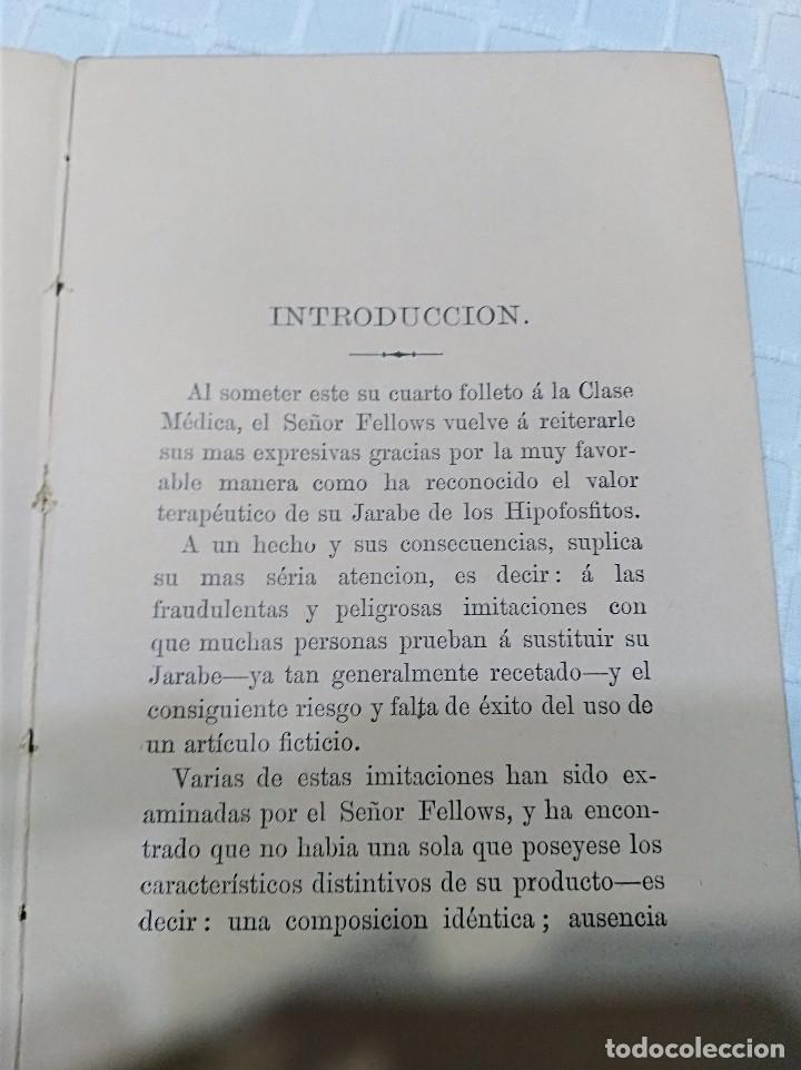 Libros antiguos: CURIOSO - LA INFANCIA Y DE LA NIÑEZ EN EL QUE EL JARABE DE HIPOFOSFITOS DE FELLOWS ES BENEFICIOSO - Foto 3 - 133369094