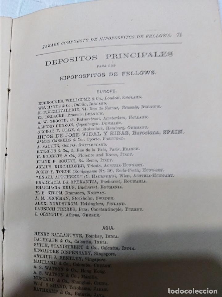 Libros antiguos: CURIOSO - LA INFANCIA Y DE LA NIÑEZ EN EL QUE EL JARABE DE HIPOFOSFITOS DE FELLOWS ES BENEFICIOSO - Foto 5 - 133369094