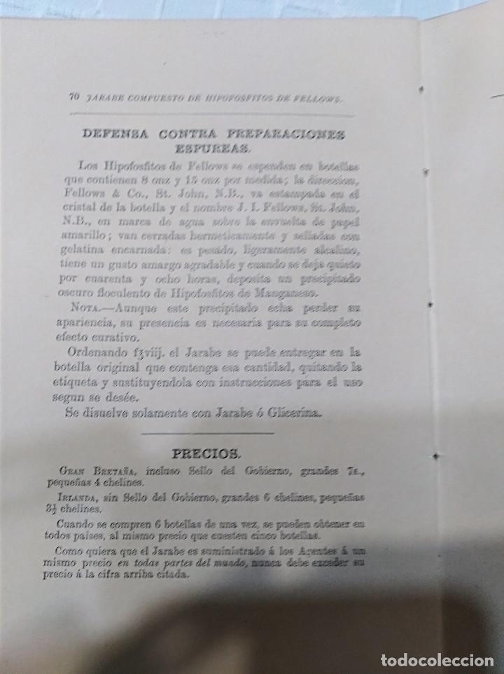 Libros antiguos: CURIOSO - LA INFANCIA Y DE LA NIÑEZ EN EL QUE EL JARABE DE HIPOFOSFITOS DE FELLOWS ES BENEFICIOSO - Foto 7 - 133369094