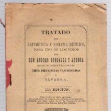 Libros antiguos: TRATADO DE ARITMETICA Y SISTEMA METRICO PARA USO DE LOS NIÑOS. ANDRES GONZALEZ Y AYENSA. AÑO 1893. Lote 133544781