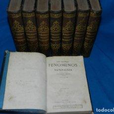 Libros antiguos: (MF) D.G.R Y M - BIBLIOTECA CIENTIFICA RECREATIVA , 8 TOMOS COMPLETO , MADRID , IMP GASPAR Y ROIG . Lote 133652626