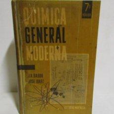 Libros antiguos: QUIMICA GENERAL MODERNA -J.A.BABOR/JOSE IBARZ EDITORIAL MARIN 7ª EDICION AÑO 1963. Lote 133714430