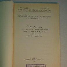 Libros antiguos: CARBALLO Y B. LARÍN: EXPLORACIÓN EN LA GRUTA DE 'EL PENDO' (SANTANDER) (1933). Lote 133736034