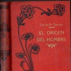 Libros antiguos: DARWIN : EL ORIGEN DEL HOMBRE (MAUCCI, S.F.) . Lote 133923166