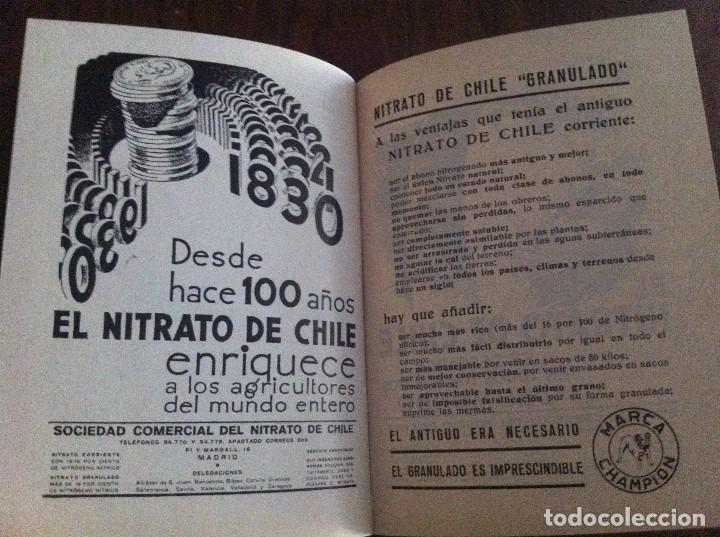 Libros antiguos: Agenda Agrícola Nitrato de Chile. Año 1932. Original - Foto 3 - 135624866