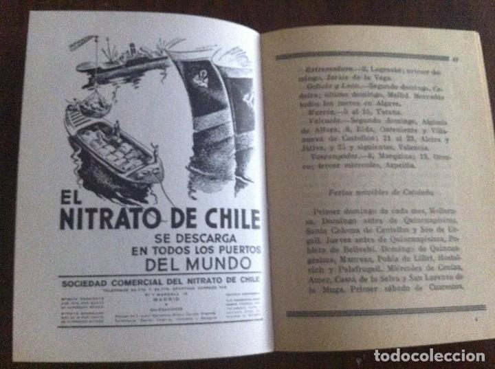 Libros antiguos: Agenda Agrícola Nitrato de Chile. Año 1932. Original - Foto 4 - 135624866