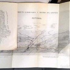 Libros antiguos: MAPA GEOLÓGICO DE SEVILLIA. HOJA Nº 984. (1929) 2 MAPAS PLEGADOS . Lote 136656850