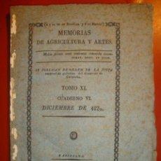Libros antiguos: MEMORIAS DE AGRICULTURA. Lote 136756754