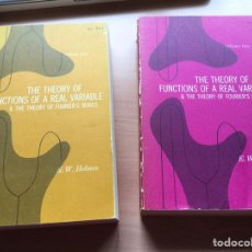 Libros antiguos: THE THEORY OF FUNCTIONS OF REAL VARIABLE & THE THEORY OF FOURIER SERIES. 2 VOLUMENES. Lote 137125693