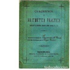 Libros antiguos: CIEN PROBLEMAS DE DIVIDIR NÚMEROS ENTEROS. APLICADOS A LA INDUSTRIA, COMERCIO, ARTES Y OFICIOS. Lote 87166152