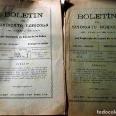 Libros antiguos: 2 BOLETIN DEL SINDICATO AGRICOLA DEL PARTIDO DE OLOT Y SINDICATO CASSA DE LA SELVA 1916 104 - 133. Lote 137354146