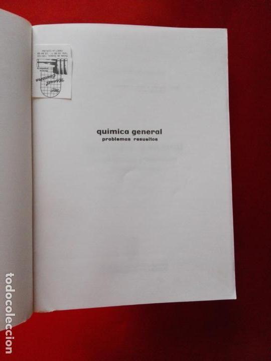 Libros antiguos: LIBRO-QUÍMICA GENERAL-PROBLEMAS RESUELTOS-2ªREIMPRESIÓN-1987-GREGORIO ANTOLÍN GIRALDO-VER FOTOS - Foto 4 - 137533274