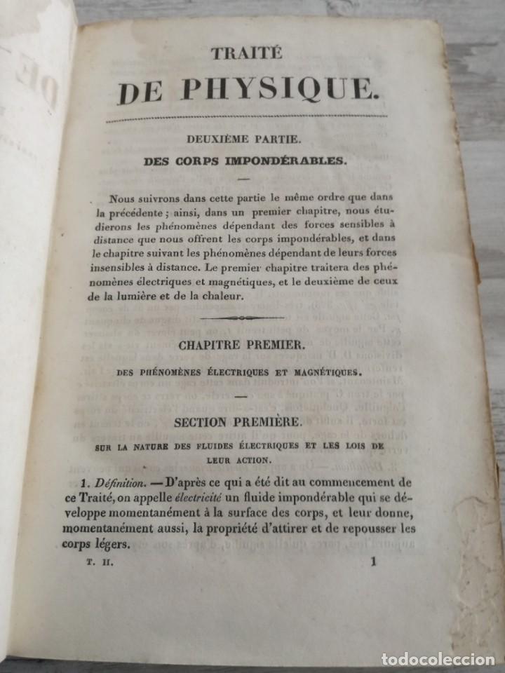 Libros antiguos: TRATADO DE FÍSICA - TRAITÉ DE PHYSIQUE - PINAULT (TOMO 2, 1839), CON LÁMINAS DESPLEGABLES - Foto 8 - 138000438
