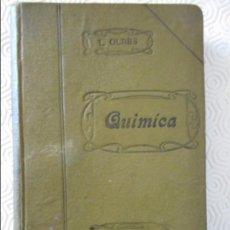 Libros antiguos: LECCIONES ELEMENTALES DE QUIMICA. POR LUIS OLBES Y ZULOAGA. IMPRENTA DE RICARDO F. DE ROJAS, MADRID,. Lote 138023086