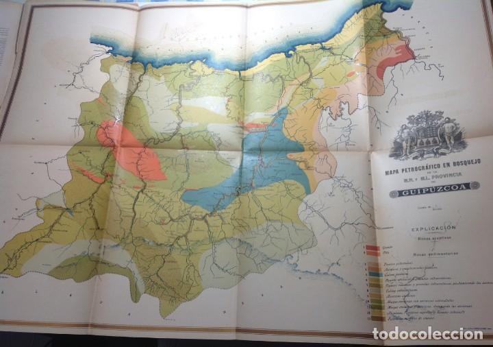 1900 GUIPUZCOA * GEOLOGIA AGRÍCOLA * BOSQUEJO PETROGRÁFICO * GRAN MAPA A COLOR (Libros Antiguos, Raros y Curiosos - Ciencias, Manuales y Oficios - Paleontología y Geología)