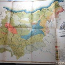 Libros antiguos: 1900 GUIPUZCOA * GEOLOGIA AGRÍCOLA * BOSQUEJO PETROGRÁFICO * GRAN MAPA A COLOR. Lote 139586258