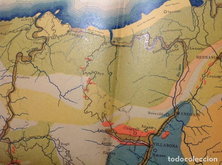 Libros antiguos: 1900 GUIPUZCOA * GEOLOGIA agrícola * BOSQUEJO PETROGRÁFICO * GRAN MAPA A COLOR - Foto 11 - 139586258
