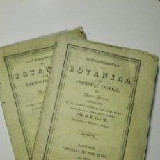 Libros antiguos: NUEVOS ELEMENTOS DE BOTÁNICA Y DE FISIOLOGÍA VEGETAL POR A. RICHARD. 2 TOMOS. 1839. Lote 140133610