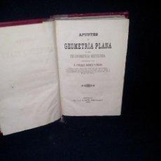 Libros antiguos: ENRIQUE ANDREU Y SALAS - APUNTES DE GEOMETRIA PLANA Y DE TRIGONOMETRIA RECTILINEA - SEVILLA 1881. Lote 140530466
