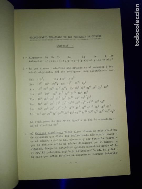 Libros antiguos: libro-clave detallada de los problemas de química-ver fotos - Foto 2 - 142475466