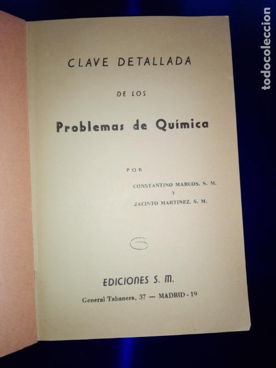 Libros antiguos: libro-clave detallada de los problemas de química-ver fotos - Foto 3 - 142475466