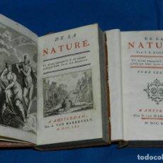Libros antiguos: (MF) SUID DE ARISTOT - DE LA NATURE , 2 VOLS COMPLETO , AMSTERDAM M VAN HARREVELT MDCCLXI. Lote 142702690