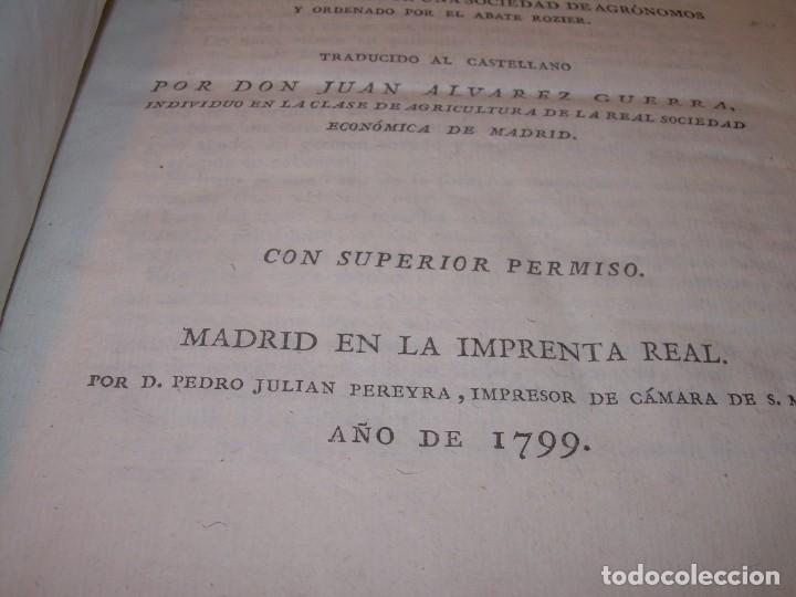 Libros antiguos: LIBRO TAPAS PIEL.DICCIONARIO DE AGRICULTURA,MEDICINA RURAL, VETERINARIA Y BOTANICA.AÑO 1799 - Foto 3 - 142796066