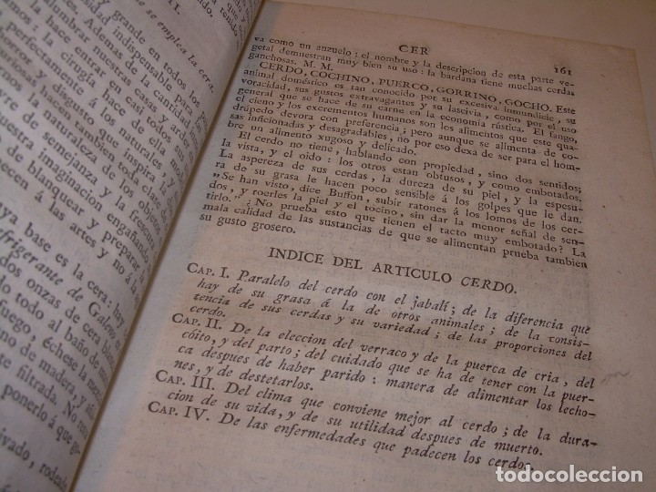Libros antiguos: LIBRO TAPAS PIEL.DICCIONARIO DE AGRICULTURA,MEDICINA RURAL, VETERINARIA Y BOTANICA.AÑO 1799 - Foto 17 - 142796066