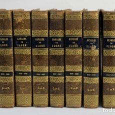 Libros antiguos: ANNALES DE FLORE ET DE POMONE OU JOURNAL DES JARDINS 1833-1841.ED.BOUSSELON, PARIS-9 TOMOS. Lote 143626202