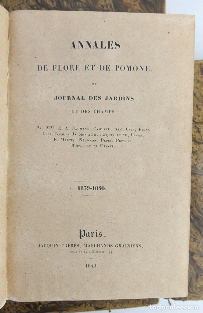 Libros antiguos: Annales de flore et de Pomone ou journal des jardins 1833-1841.Ed.Bousselon, Paris-9 tomos - Foto 5 - 143626202
