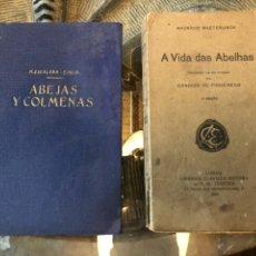Libros antiguos: ABEJAS Y COLMENAS Y A VIDA DAS ABELHAS. Lote 143811310