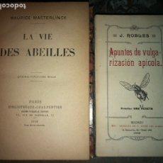 Libros antiguos: APUNTES DE VULGARIZACIÓN APICOLA LA VIE DES ABEILLES. Lote 143814060