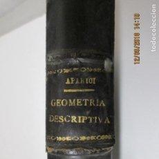 Libros antiguos: LECCIONES DE GEOMETRÍA DESCRIPTIVA POR R. APARICI - 3º EDICIÓN - MADRID 1912. Lote 144037226