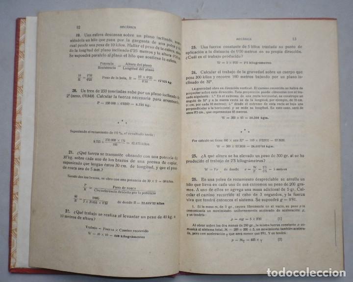 Libros antiguos: PROBLEMAS DE FISICA. ENUNCIADOS Y SOLUCIONES DETALLADAS. NIVEL: BACHILLERATO - Foto 5 - 144106502
