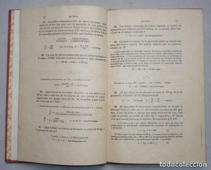 Libros antiguos: PROBLEMAS DE FISICA. ENUNCIADOS Y SOLUCIONES DETALLADAS. NIVEL: BACHILLERATO - Foto 6 - 144106502