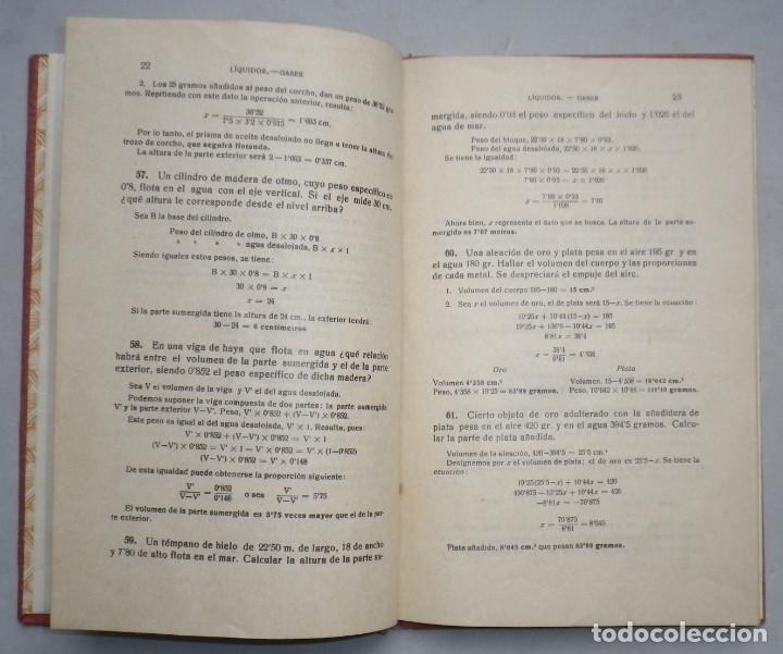Libros antiguos: PROBLEMAS DE FISICA. ENUNCIADOS Y SOLUCIONES DETALLADAS. NIVEL: BACHILLERATO - Foto 7 - 144106502