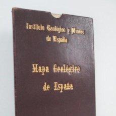 Libros antiguos: INSTITUTO GEOLOGICO Y MINERO DE ESPAÑA. MAPA GEOLOGICO DE ESPAÑA. ESCALA 1:1.500.000. MAPA ENTELADO. Lote 144402634