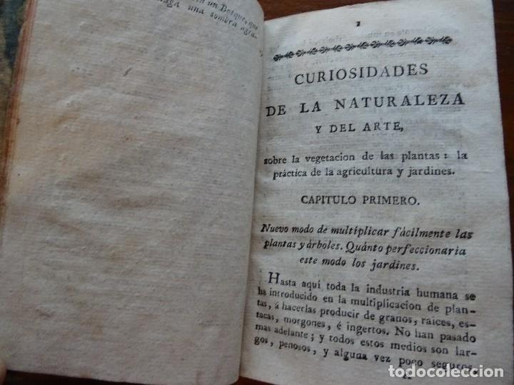CURIOSIDADES DE LA NATURALEZA Y DEL ARTE, SOBRE LA VEGETACIÓN O AGRICULTURA Y JARDINERÍA, 1806 (Libros Antiguos, Raros y Curiosos - Ciencias, Manuales y Oficios - Bilogía y Botánica)
