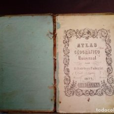 Libros antiguos: ANTIGUO ATLAS GEOGRAFICO UNIVERSAL - BARCELONA 1873 . ESTEBAN PALUZIE. Lote 145485510