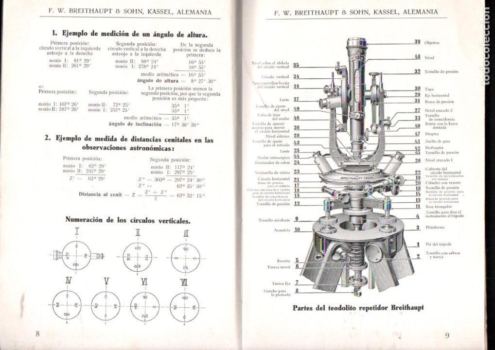 Libros antiguos: BREITHAUPT KASSEL - INSTRUMENTOS DE GEODESIA (c. 1915) - Foto 2 - 145524550