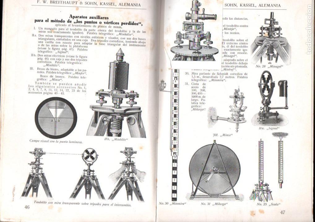 Libros antiguos: BREITHAUPT KASSEL - INSTRUMENTOS DE GEODESIA (c. 1915) - Foto 3 - 145524550